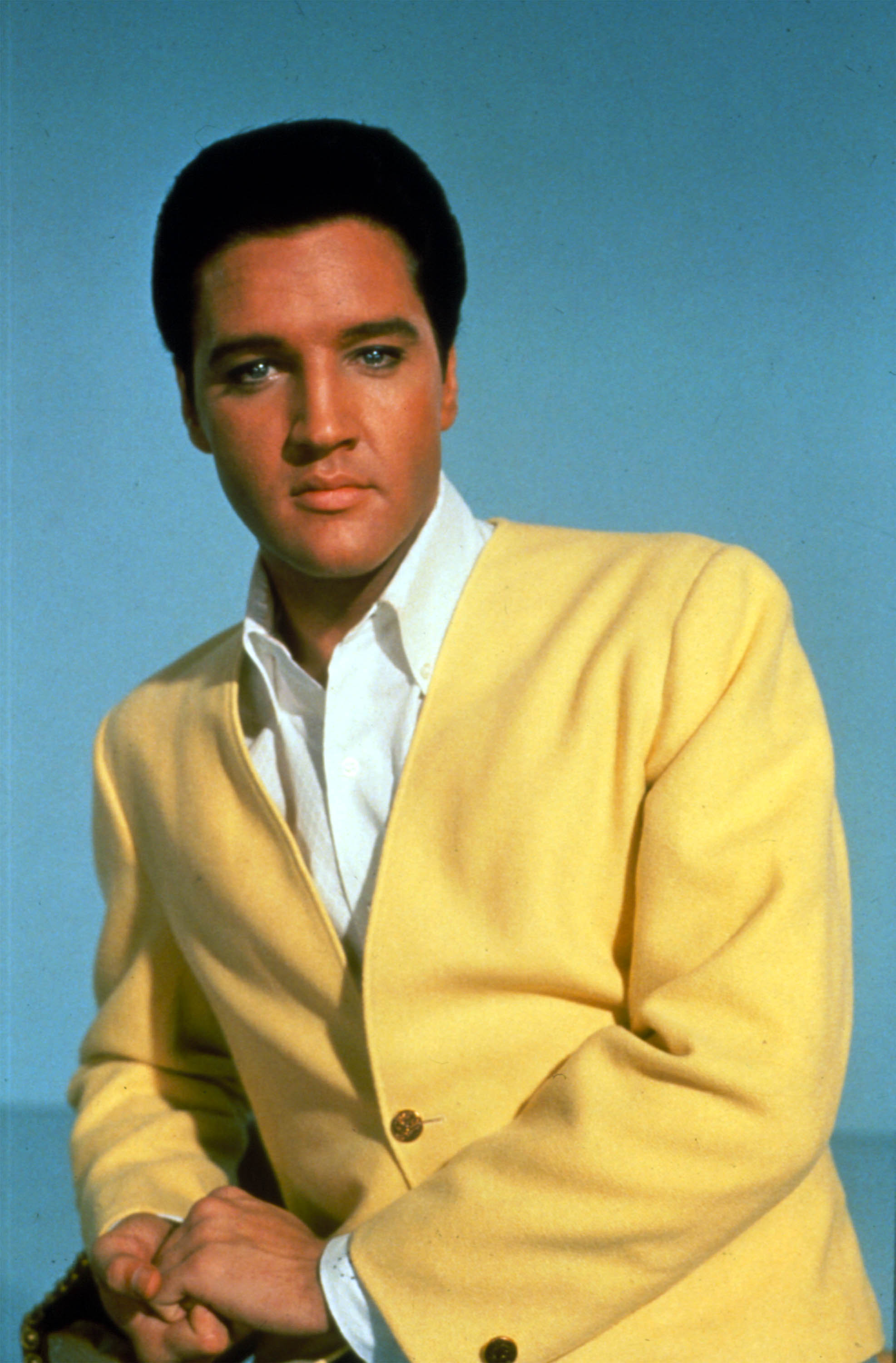 """An old portrait of """"Can't Help Falling in Love"""" singer Elvis Presley. 