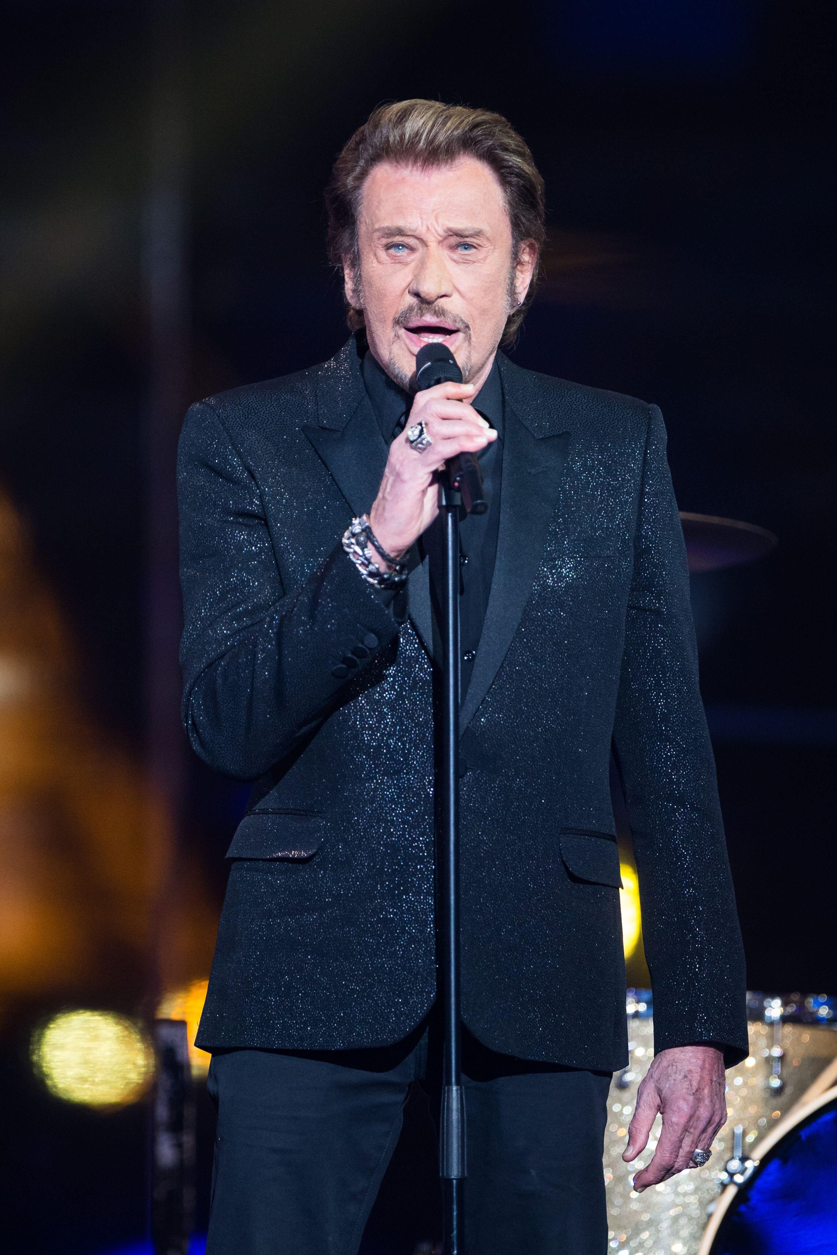 Le légendaire rockeur Johnny Hallyday. l Source : Getty Images