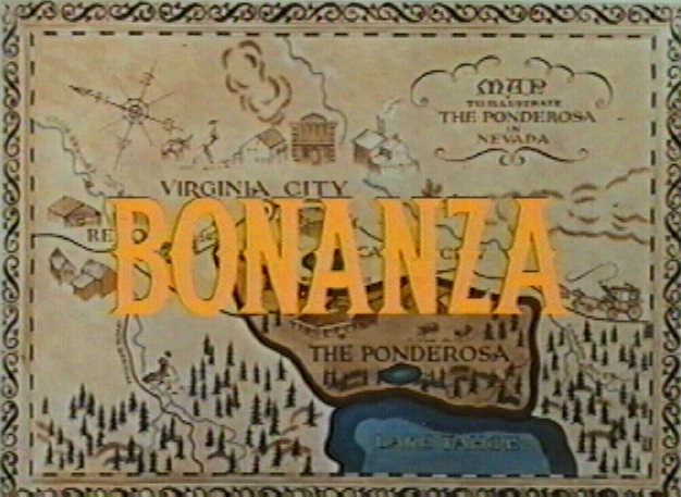 """Bonanza"" title screen. I Image: Wikimedia Commons."