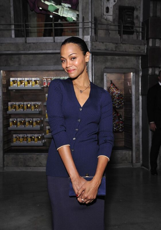 """Zoe Saldana attends an event for """"Guardians of the Galaxy"""" 