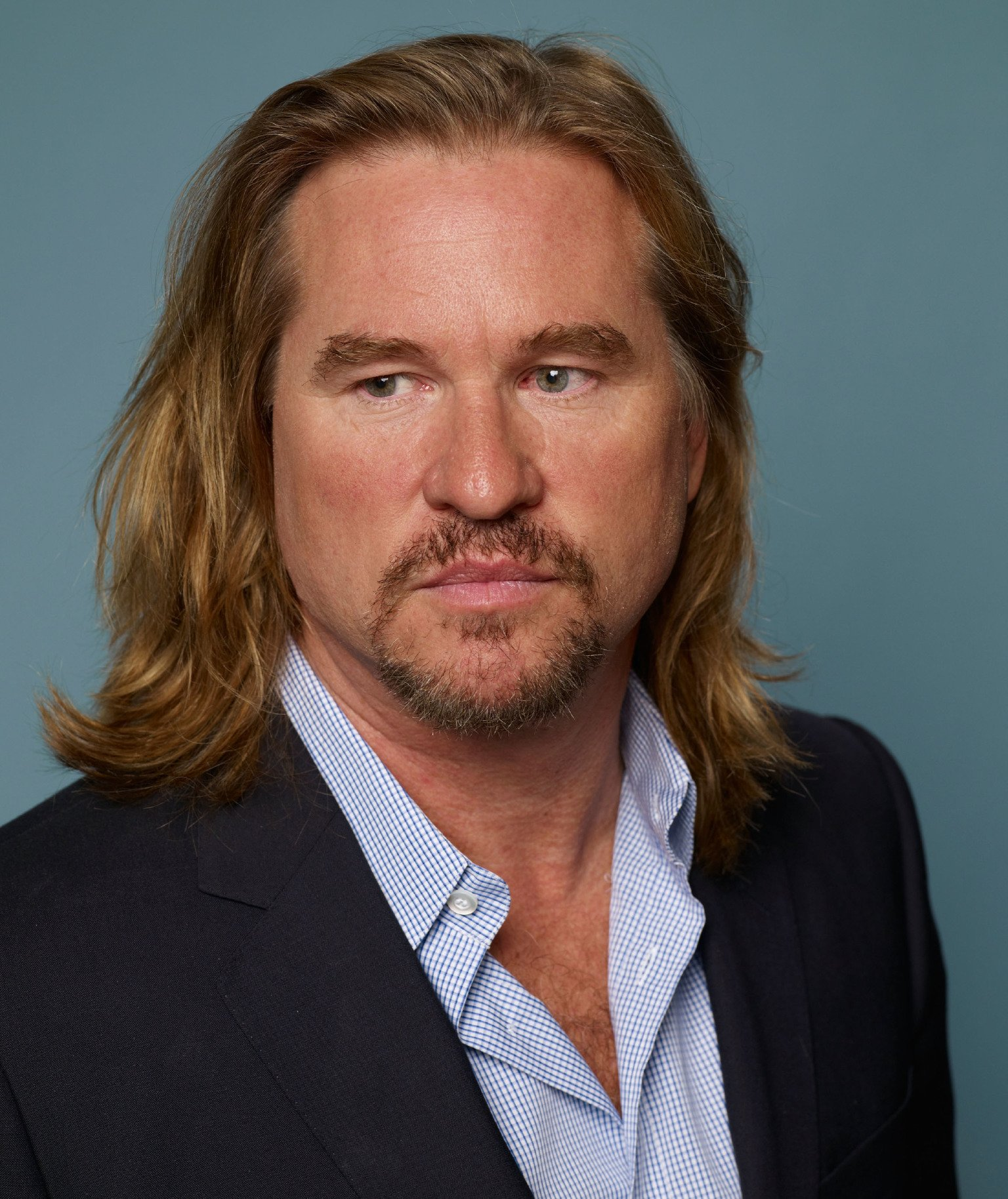 """Actor Val Kilmer of """"Twixt"""" poses during the 2011 Toronto Film Festival at Guess Portrait Studio 