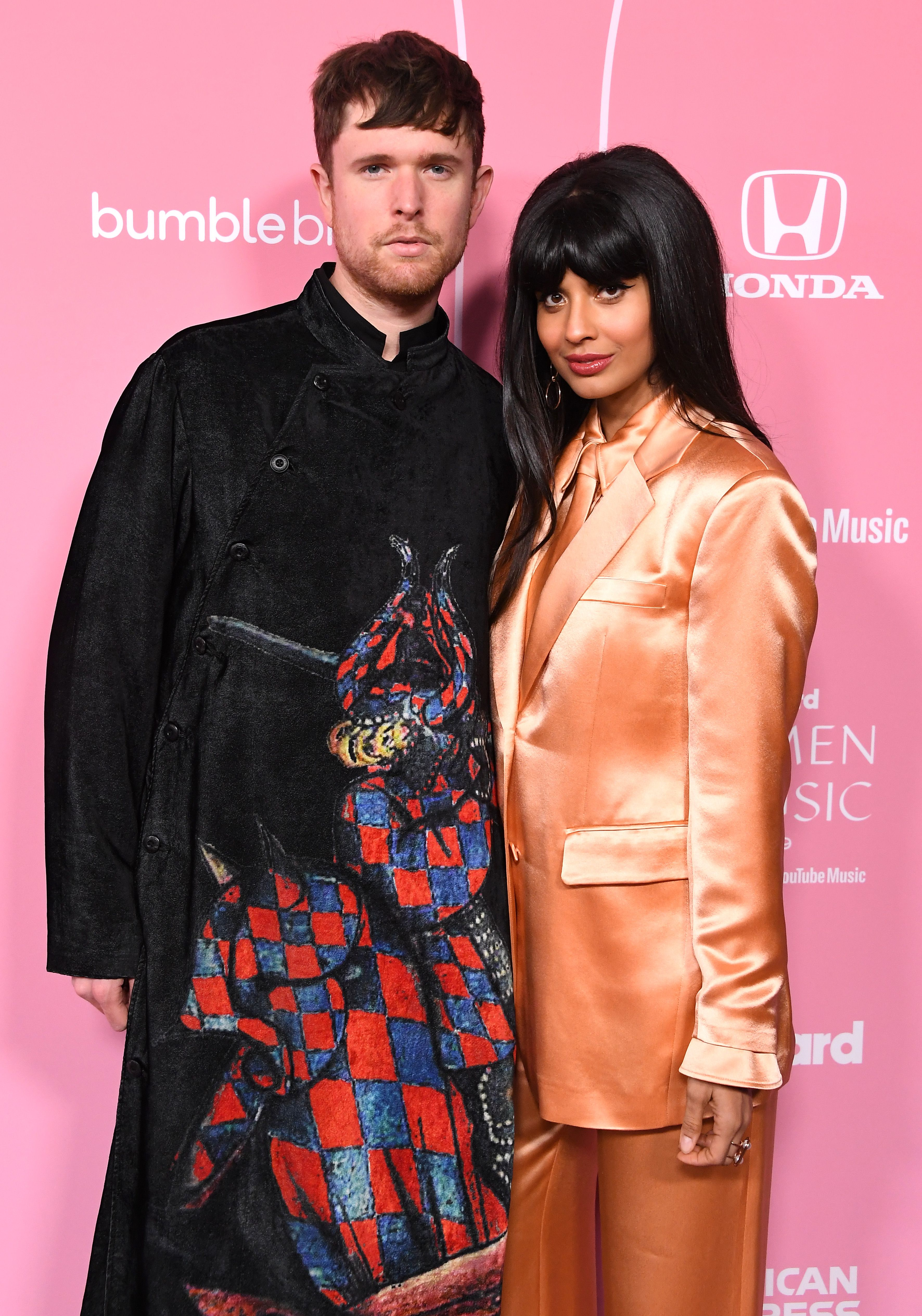 James Blake and Jameela Jamil at the 2019 Billboard Women In Music in Los Angeles   Source: Getty Images