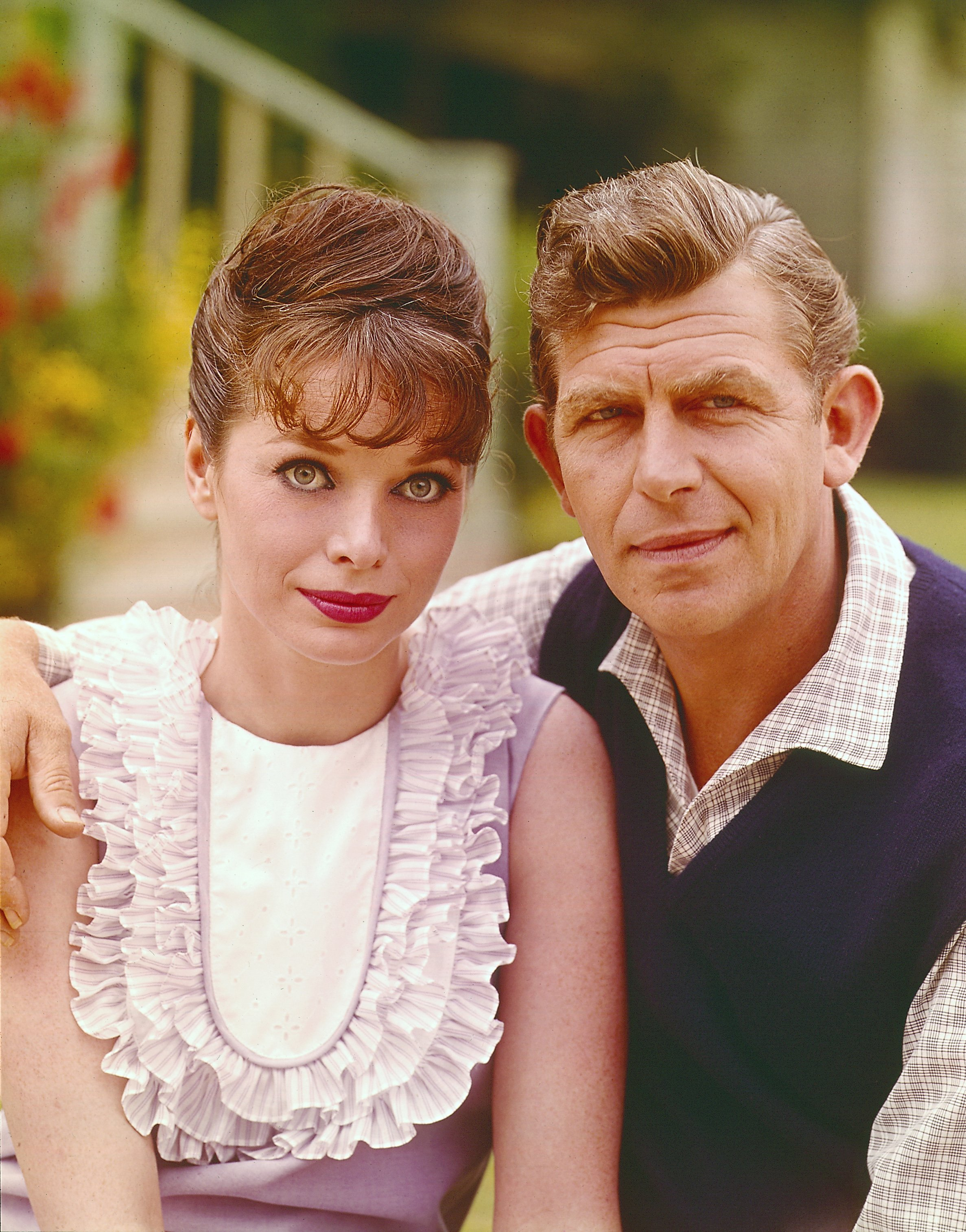 "Aneta Corsaut and Andy Griffith pictured on ""The Andy Griffith Show."" 1965. 