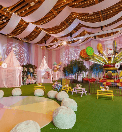 Decor inside Stormi's party | Instagram: Kylie Jenner