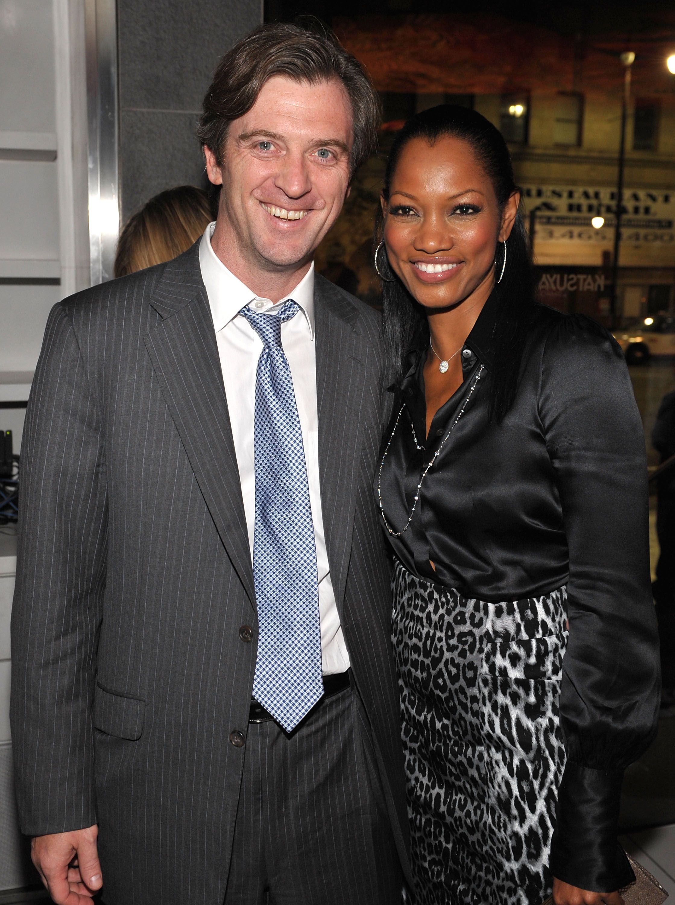 """Garcelle Beauvais and Mike Nilon at the after party for the Los Angeles premiere of """"Spread"""" in 2009 in Hollywood 