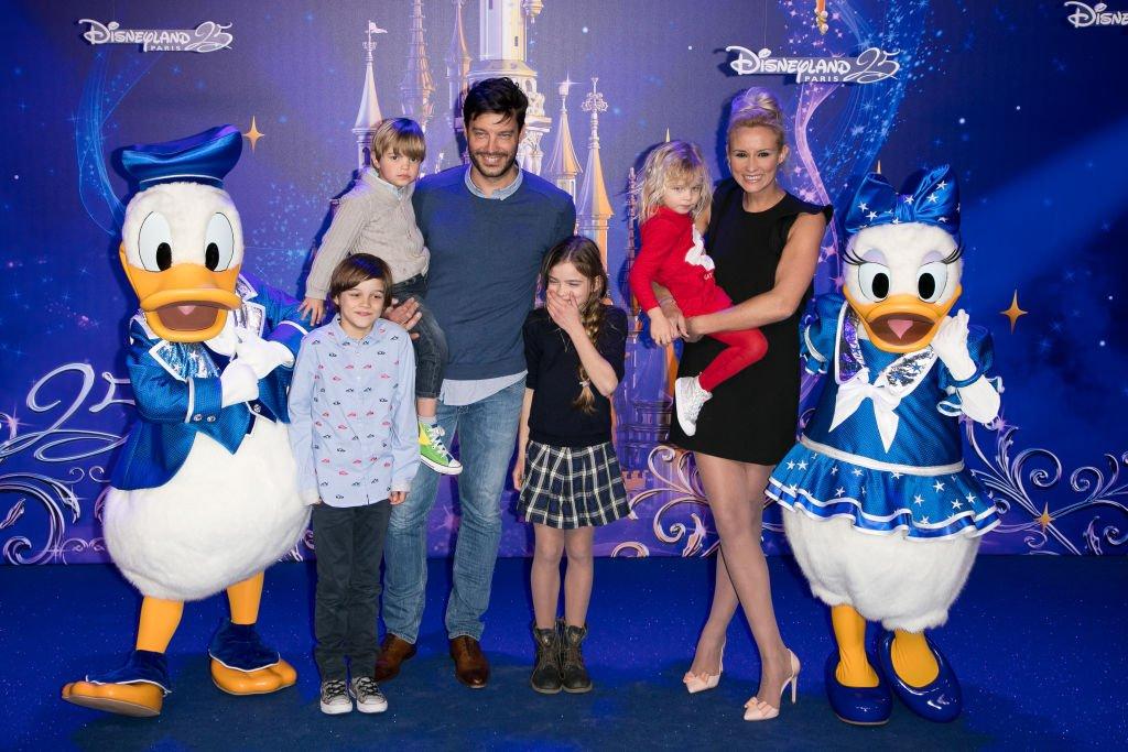 Bertrand Lacherie, Élodie Gossuin et leurs enfants. l Source : Getty Images