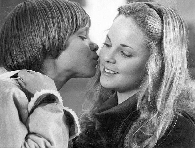 """Lance Kerwin and actress Melissa Sue Anderson promoting the NBC television film """"James at 15"""" in 1977. 