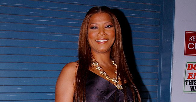Queen Latifah Wished Fans a Beautiful Weekend Posting a Throwback Pic in a Long Silk Dress