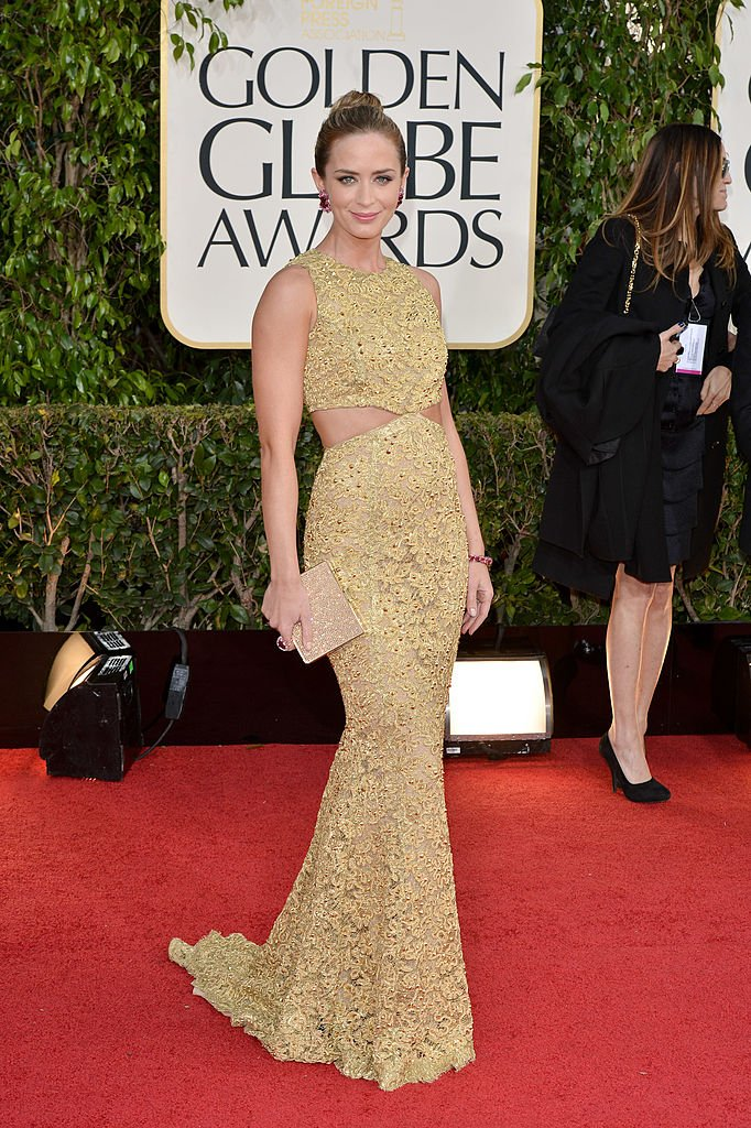 Emily Blunt arrives at the 70th Annual Golden Globe Awards held at The Beverly Hilton Hotel on January 13, 2013 | Photo: Getty Images
