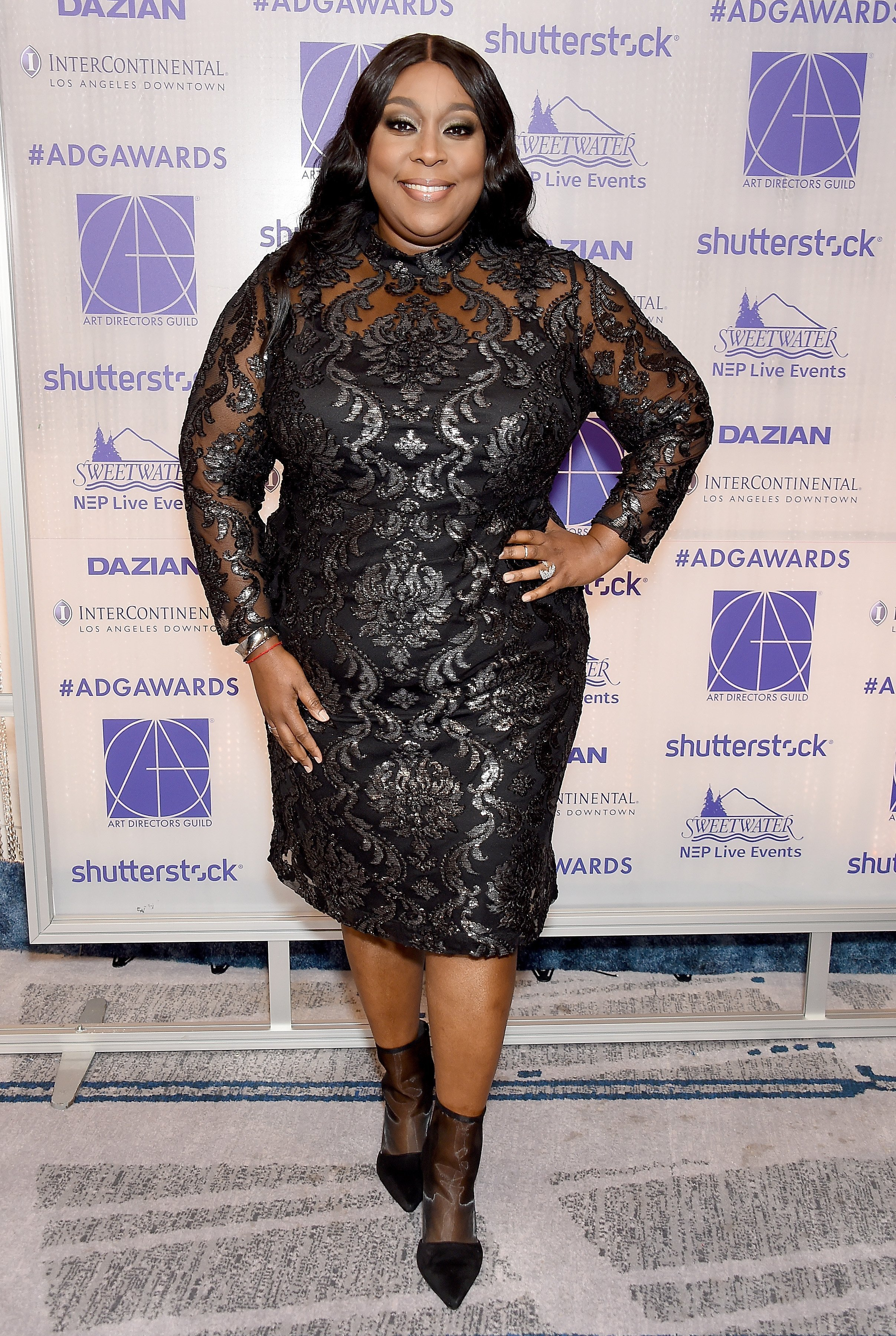 Loni Love arrives at the Art Directors Guild 23rd Annual Excellence In Production Design Awards at InterContinental Los Angeles Downtown on February 2, 2019| Photo: Getty Images