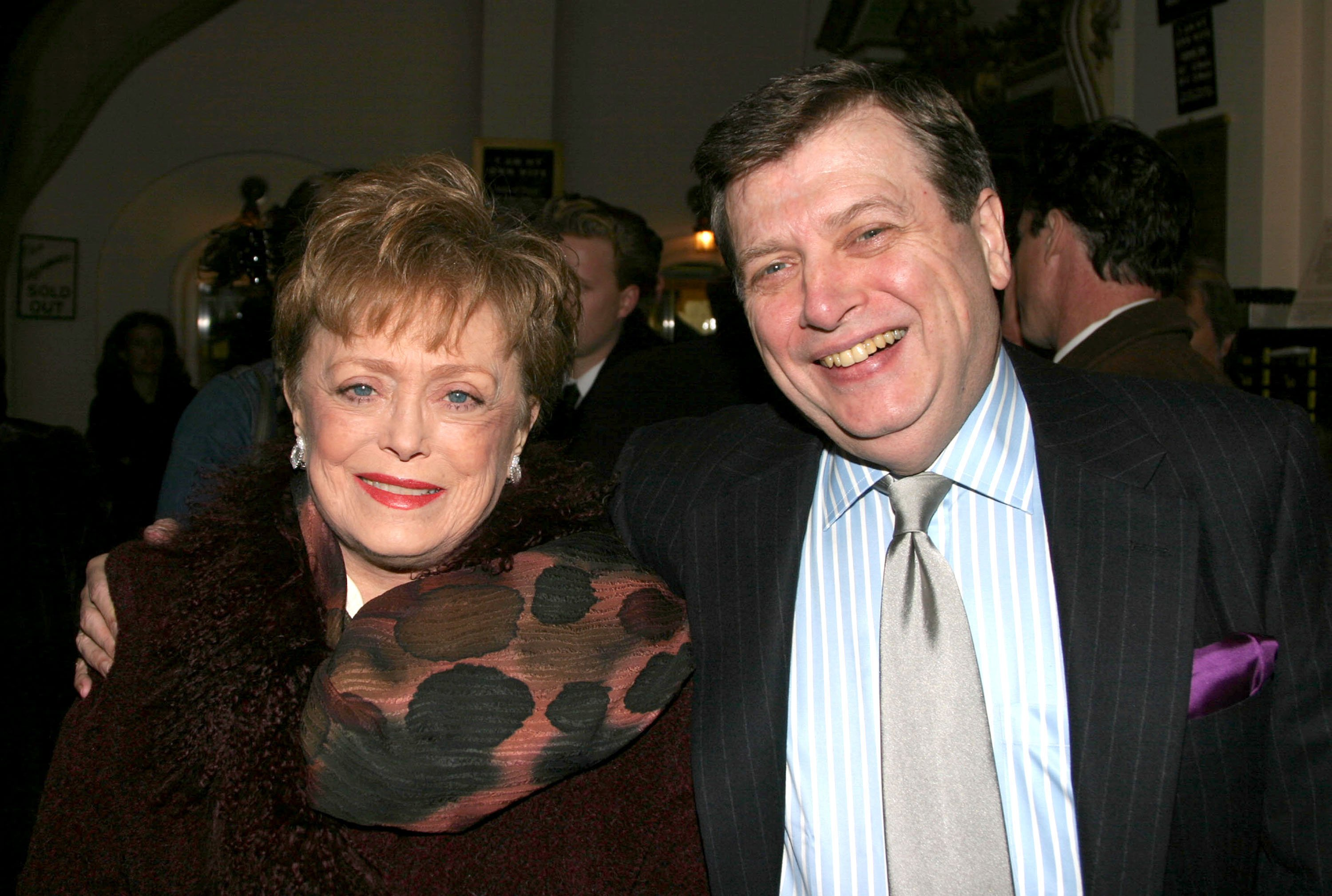 "Rue McClanahan and husband Morrow Wilson at the opening of ""I Am My Own Wife"" on Broadway in 2003 