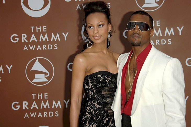 LOS ANGELES, CA - FEBRUARY 08: Musician Kanye West and girlfriend Brooke Crittendon arrive at the 48th Annual Grammy Awards at the Staples Center on February 8, 2006 in Los Angeles, California. (Photo by Stephen Shugerman/Getty Images)