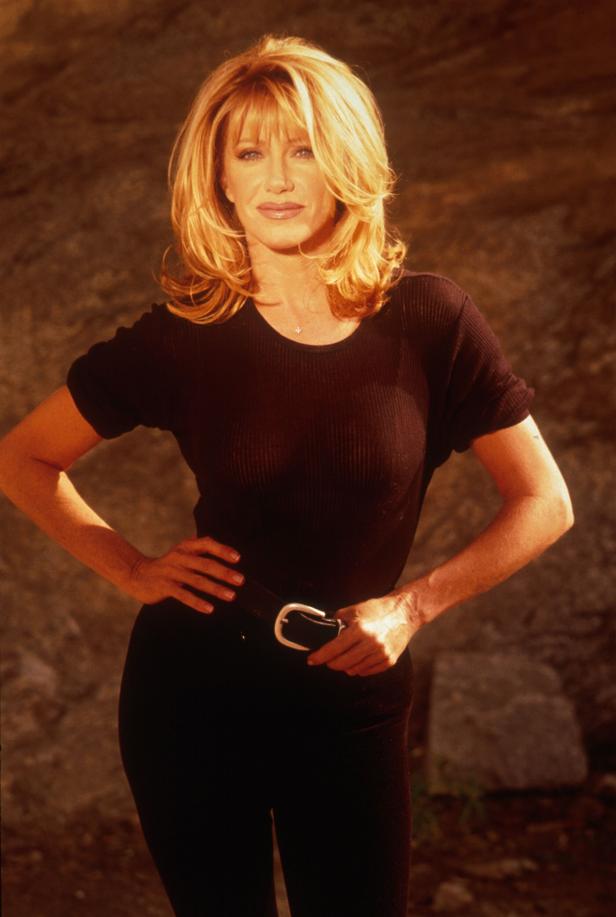 Suzanne Somers poses for a portrait on October 15, 1997 in Los Angeles ! Source: Getty Images