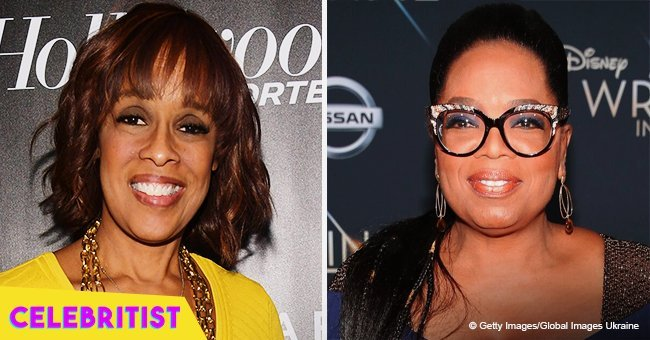 Gayle King stuns in golden gown in picture with Oprah and her beautiful daughter