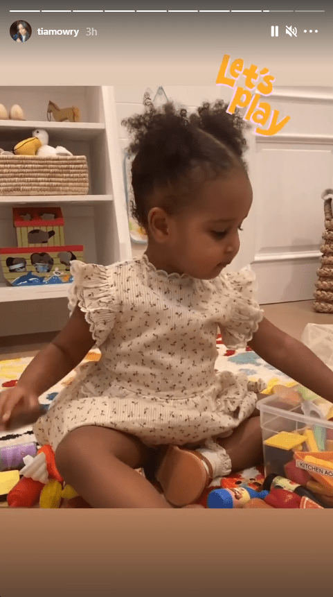 Tia Mowry's daughter, Cairo, pictured during her play-time with her toys | Photo: Instagram/tiamowry