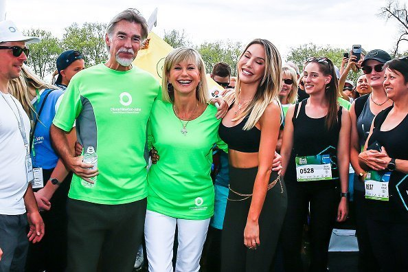 John Easdterling, Olivia Newton John and Chloe Lattanzi at the Olivia Newton-John Wellness Walk and Research Run on October 06, 2019 | Photo: Getty Images