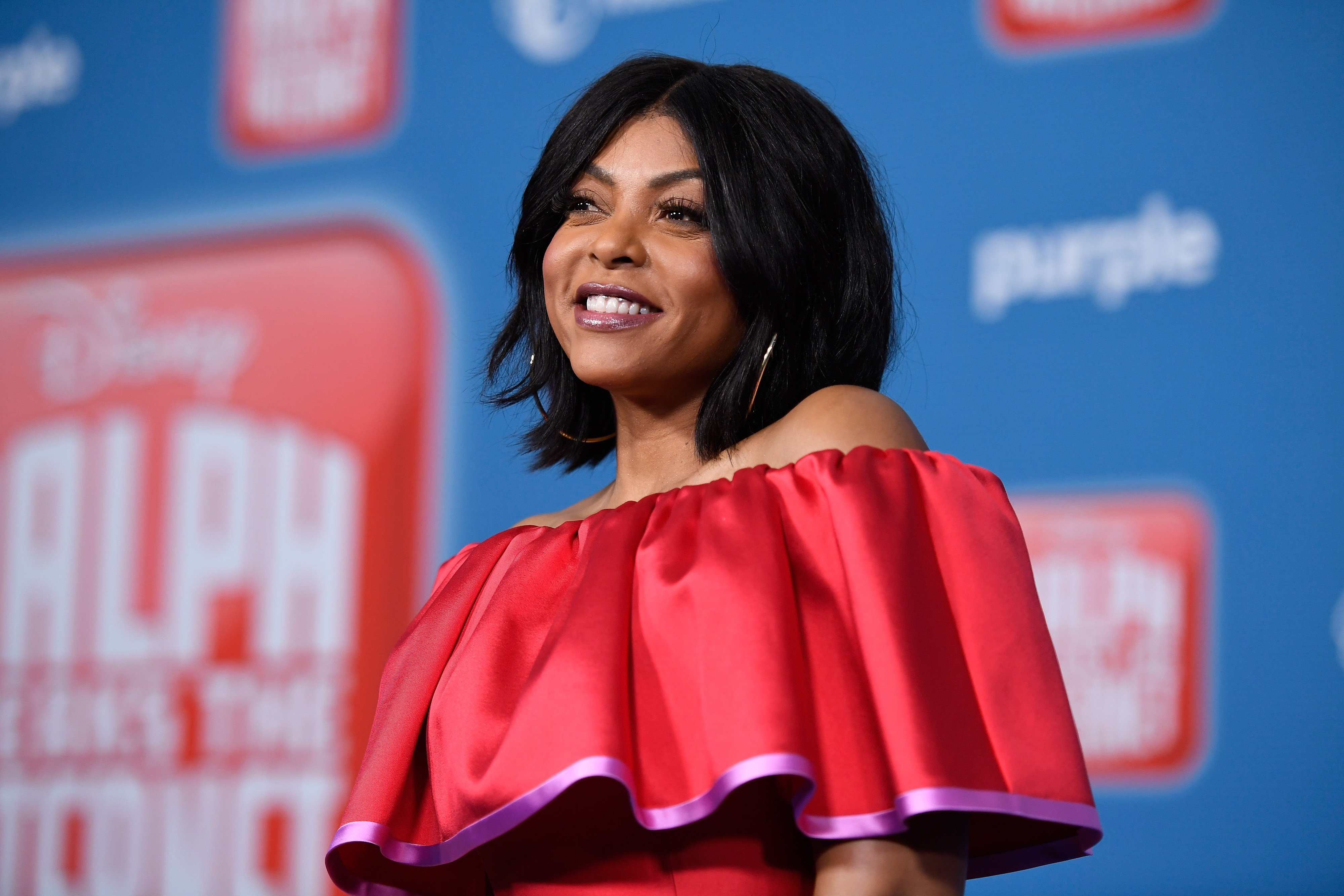 """Taraji P. Henson at the premiere of """"Ralph Breaks the Internet"""" on November 5, 2018 in Los Angeles, California. 