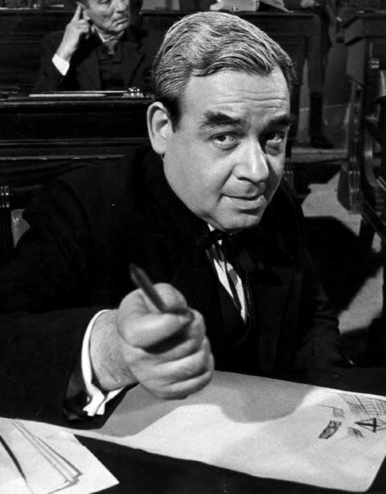 "Tom Bosley as George W. Norris in the television anthology ""Profiles in Courage"", 1965 