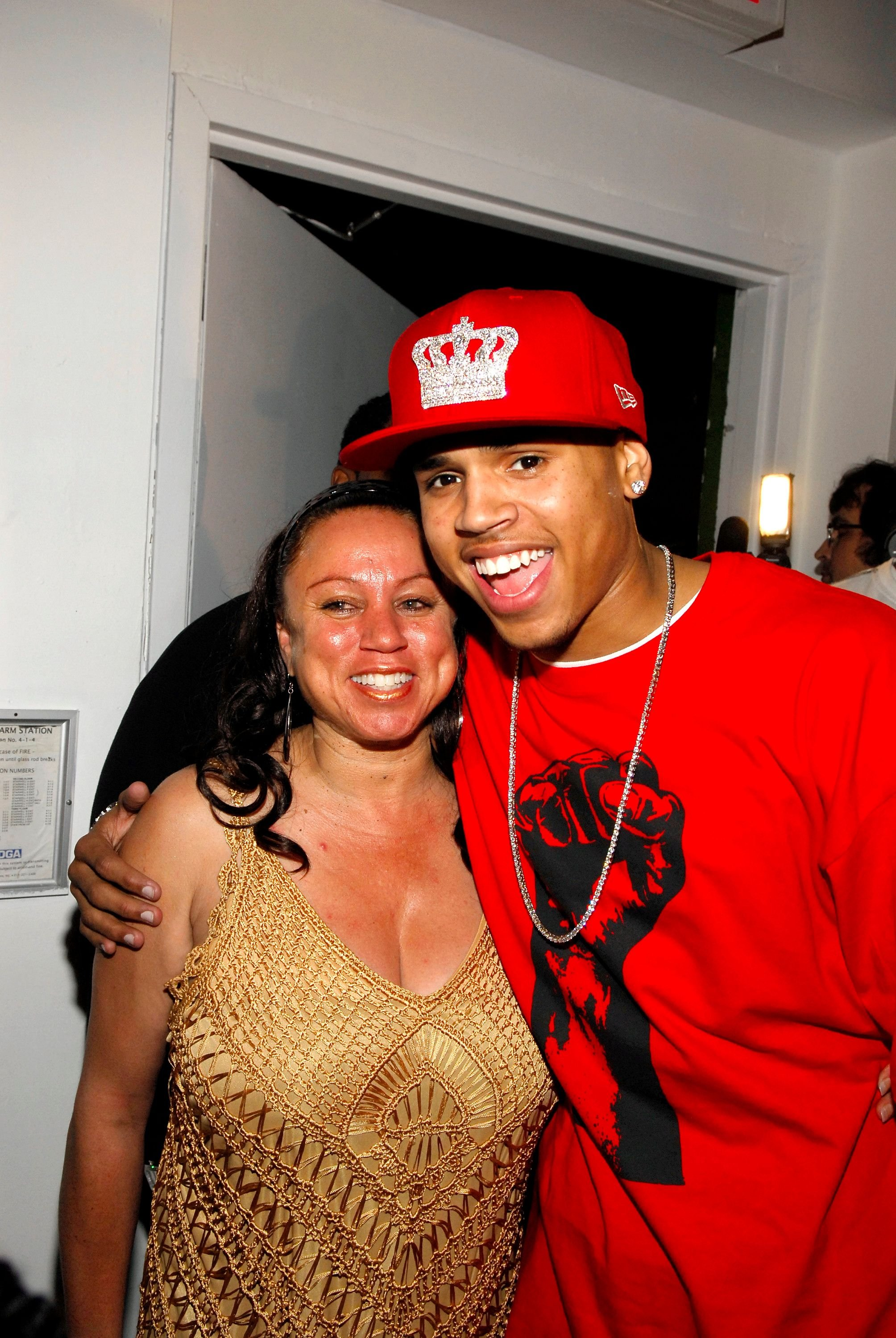 Joyce Hawkins and Chris Brown at his birthday bash at Avalon on May 06, 2007 in New York City | Photo: GettyImages