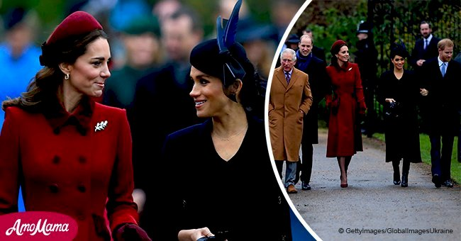 Meghan Markle and Kate Middleton share festive smiles on Christmas amid family rift rumors