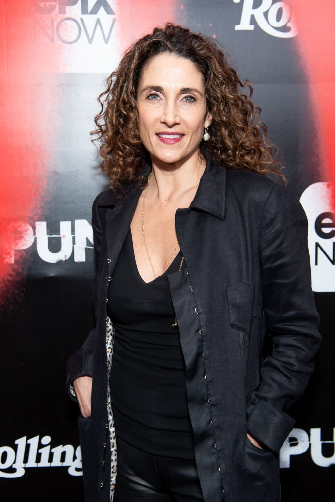 "Melina Kanakaredes arrives at the premiere of Epix's ""Punk."" 