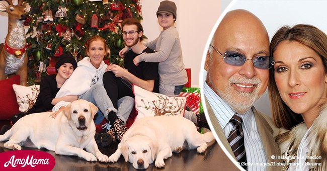 Céline Dion pictured on a heartwarming card with her grown-up sons 3 years after husband's death