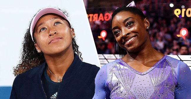 Naomi Osaka at  the 2019 Australian Open, and Simone Biles at the 49th FIG Artistic Gymnastics World Championships  | Photo: Getty Images