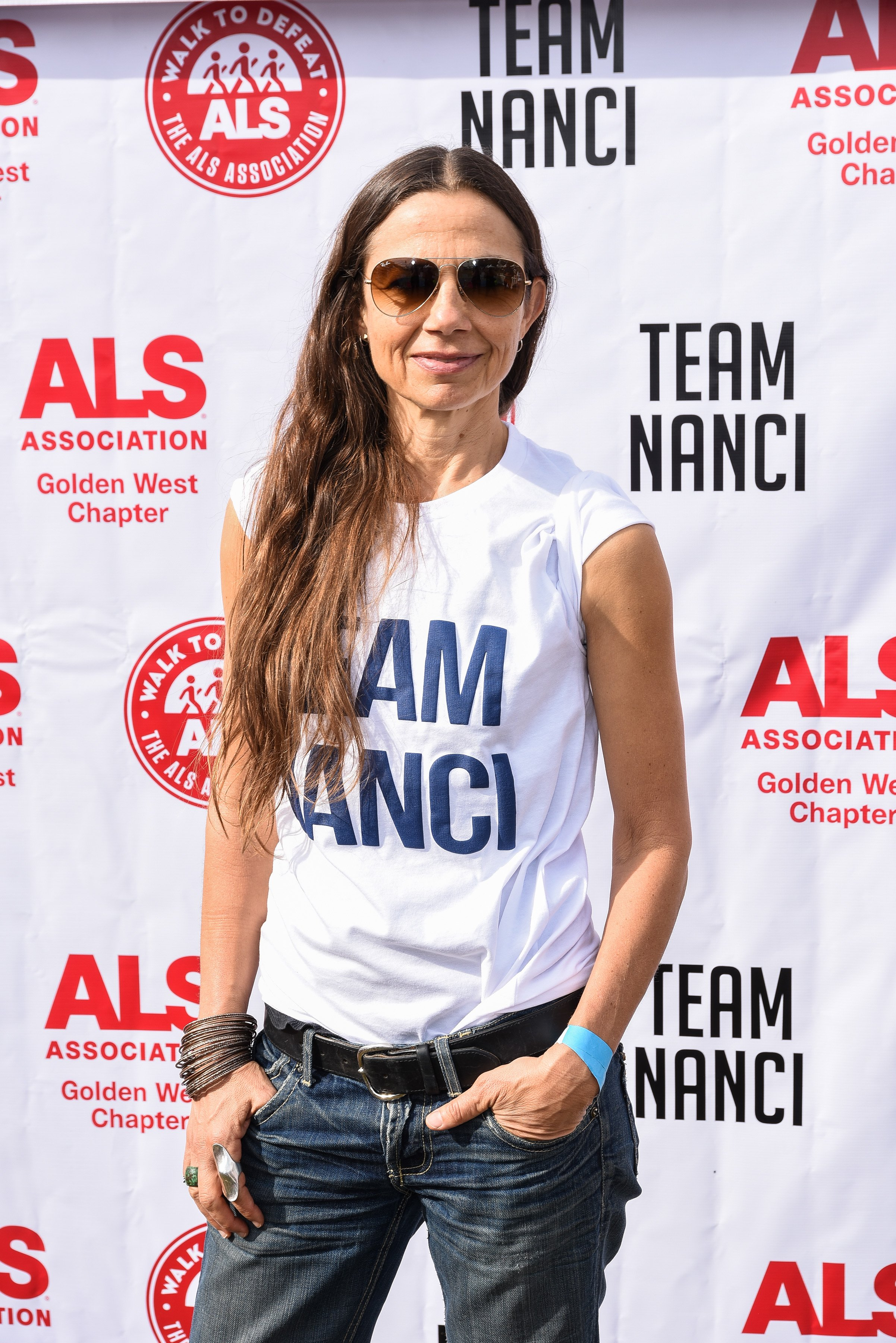 """Justine Bateman participates in Nanci Ryder's """"Team Nanci"""" In The 16th Annual LA County Walk To Defeat ALS at Exposition Park on November 04, 2018. 