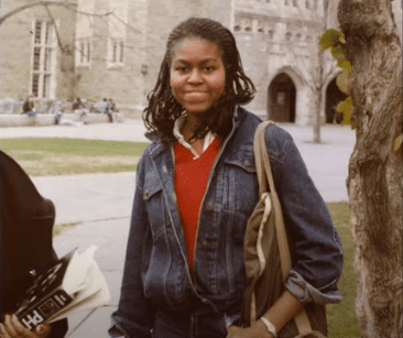 Michelle Obama during her high school years.   Source: YouTube/Netflix.
