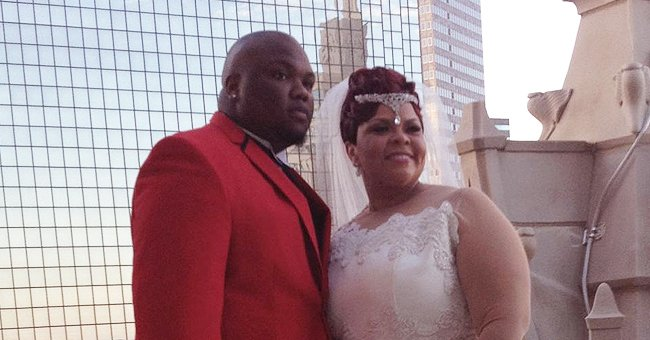 Tamela Mann Stuns in Tight Lacy Wedding Dress Posing with Her Only Son David in a Rare TBT Photo