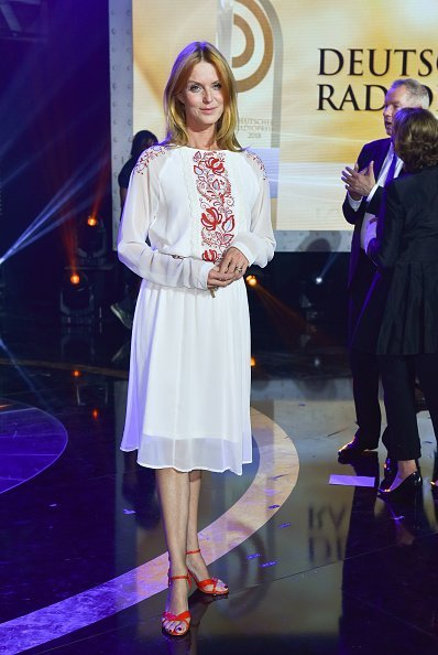 Esther Schweins, Deutscher Radiopreis 2018 | Quelle: Getty Images