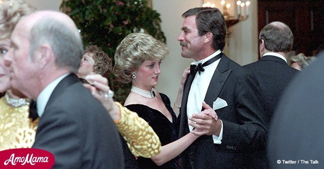 Rare photos of 24-year-old Princess Diana dancing with Tom Selleck and Clint Eastwood