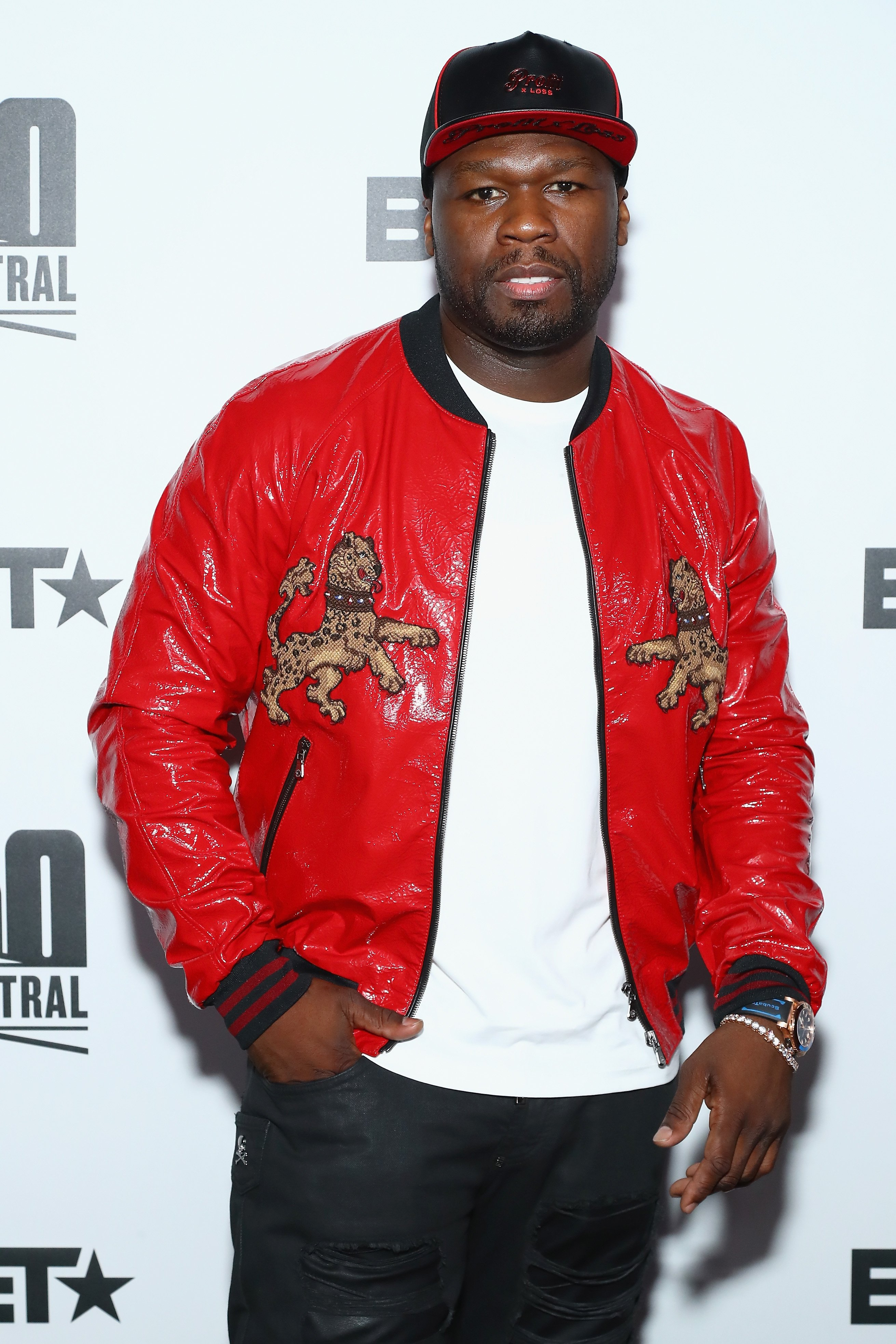 "Curtis ""50 Cent"" Jackson at BET's 50 Central Premiere Party on Sept. 25, 2017 in New York City 