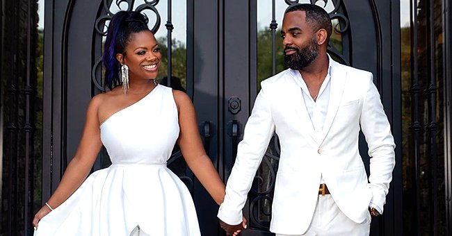 Kandi Burruss & Todd Tucker Slay Holding Hands in White Outfits for a Romantic Photoshoot