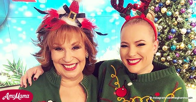 Meghan McCain poses in a photo with Joy Behar whom she tried to shut up on 'The View'