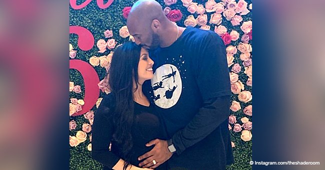 Kobe Bryant's wife flaunts baby bump in black outfit after announcing they're expecting 4th child