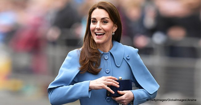 Kate Middleton Turns Heads in a $2,300 Periwinkle Cape Coat That Makes Her Look like Cinderella