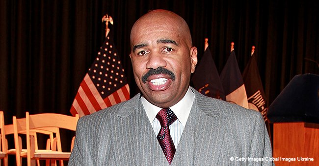 Steve Harvey shaves off beard, returns to his signature mustache thanks to wife Marjorie