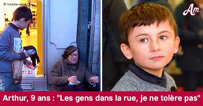 """""""Les gens dans la rue, je ne tolère pas"""": Arthur, âgé de 9 ans, vend ses toiles pour aider les sans abris"""