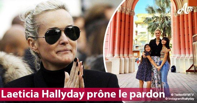 """""""Je n'ai pas coulé"""": Laeticia Hallyday demande pardon dans son nouvel hommage"""