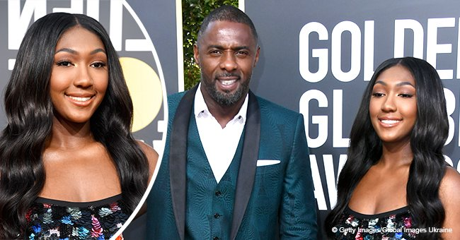 Idris Elba's daughter stuns in black tulle gown, joins the actor & his fiancée at the Golden Globes