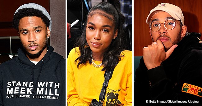 Lori Harvey reportedly spotted kissing Lewis Hamilton after deleting all pics of Trey Songz