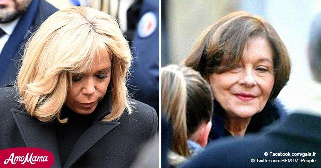 Les funérailles de Michel Legrand : Macha Méril très émue reçoit le soutien de Brigitte Macron