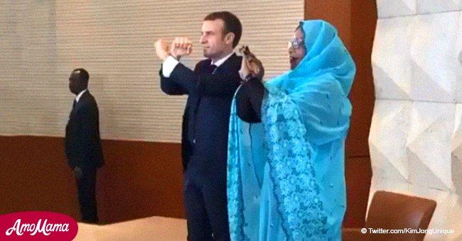 Macron est victime de moqueries à cause de son geste lors d'un voyage au Tchad