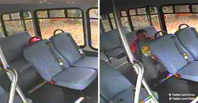 Harrowing video shows 5-year-old boy crying for help after being left alone on locked school bus