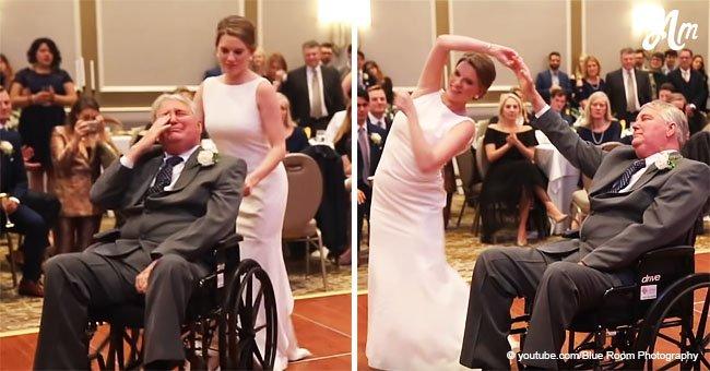 Novia y su padre enfermo terminal tienen su baile de boda soñado y dejan llorando a todo el salón