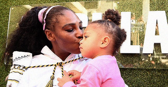 Serena Williams and her daughter, Olympia. | Photo: Getty Images