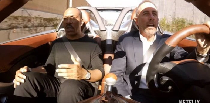 Eddie Murphy driving with Jerry Seinfeld on Netflix's Comedians in Cars Getting Coffee | Photo: YouTube/Netflix