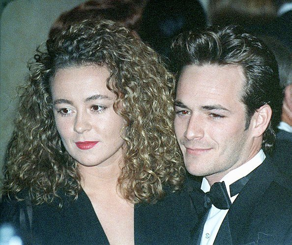 American actor Luke Perry and his wife Rachel Minnie Sharp at the American Friends of The Hebrew University's National Scopus Award   Photo: Getty Images