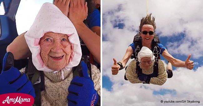Cette femme est devenue la plus vieille parachutiste au monde et est entrée dans le Livre Guinness des Records